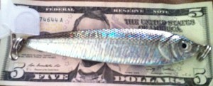6.5 ounce XL anchovy jig excellent lingcod jigging lure